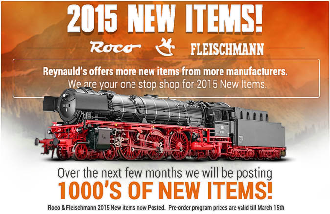 Fleischmann and Roco 2015 New Items!