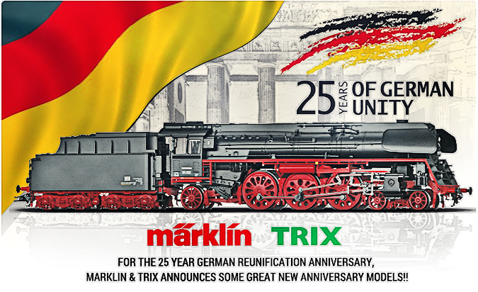 Marklin and Trix 25yr German Unity Locomotives
