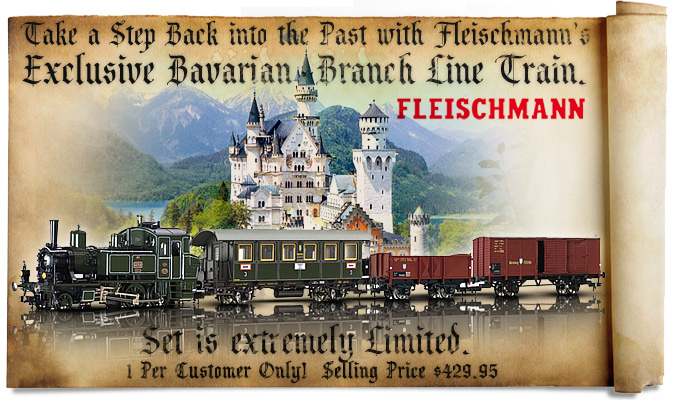 Fleischmann's Exclusive Bavarian Branch Line Train!  Set is extremely limited!