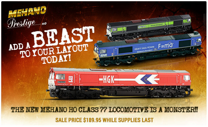 The new Mehano HO Class 77 Locomotive is a Monster