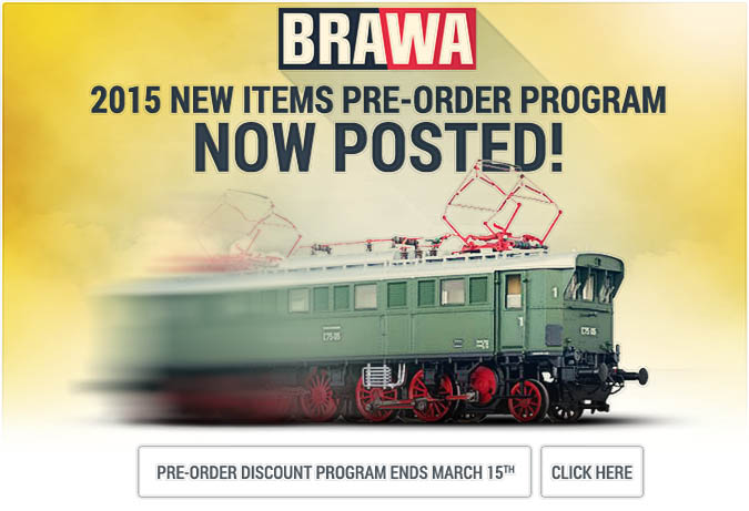 Brawa 2015 New Items!