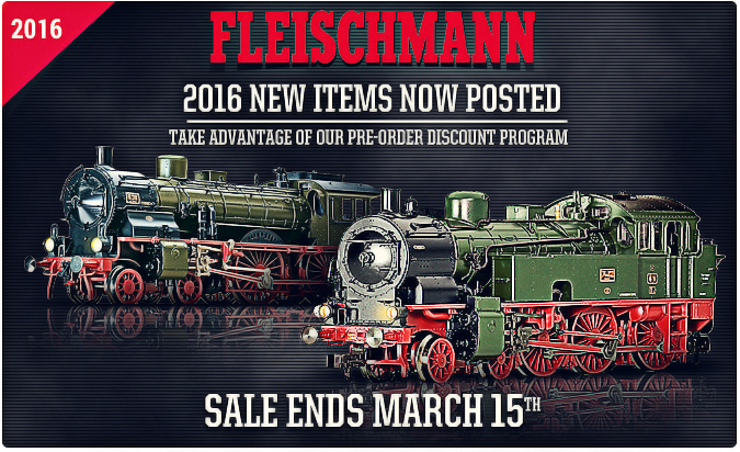 New Fleischmann 2016 items!