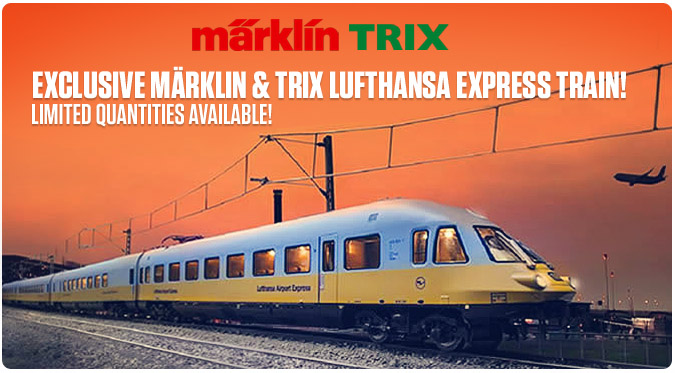 Exclusive Marklin and Trix Lufthansa Express Train