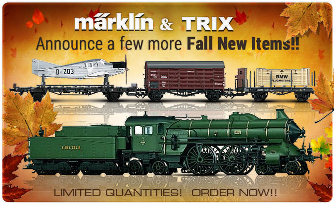 Marklin and Trix have announced more fall new items!