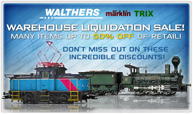Warehouse liquidation sale! Many items up to 50% off of retail!